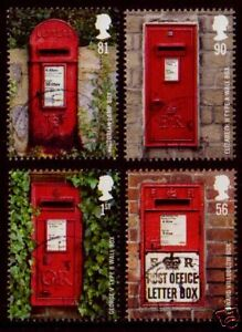 GREAT-BRITAIN-2009-POST-BOXES-SET-OF-4-F-USED-SG-2950-3