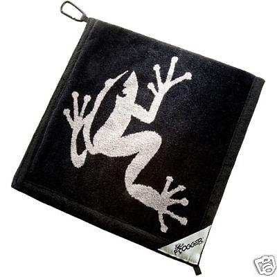 Authentic Frogger Amphibian Golf Towel Black + Champ Tees