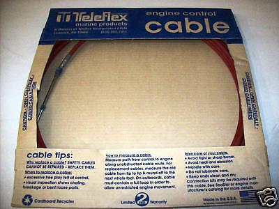 TELEFLEX - 21' FORCE THROTTLE/SHIFT CABLE - F5H208/21
