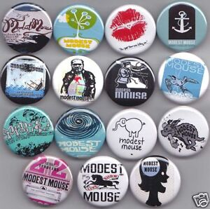 MODEST MOUSE Badges X15 - The Moon and Antarctica Emo