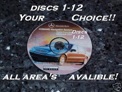 Mercedes Navigation Disc CD S500 s430 s420 s320 S55 01 AMG Sport S Class map dvd