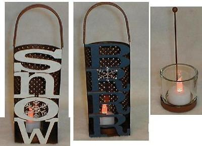 Winter Luminary Candle Holder, Snow Or Brrr