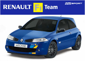 Renault Megane F1 team 225 stickers decals