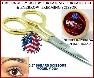 Griffin Cotton Thread Eyebrow Face Threading + Scissor