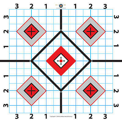 Paper Shooting Target-great For Sighting In Scope-25 Targets