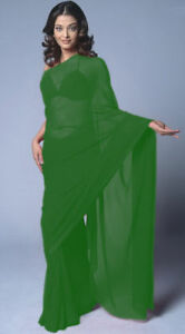 Chiffon Party Wear Saree Sari Belly Dance Fabric Drape