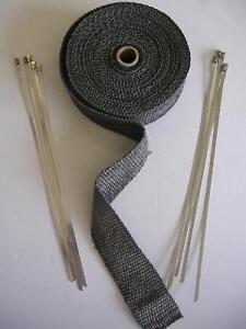 bande isolant thermique collecteur echappement noir. Black Bedroom Furniture Sets. Home Design Ideas