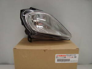 06-11-YAMAHA-YFM700-RAPTOR-700-RIGHT-LEFT-HEADLIGHTS-w-Trim-Rings-blue-tint