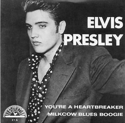 ELVIS PRESLEY - YOU'RE A HEARTBREAKER - NEW SUN LABEL REPRO IN PICTURE COVER