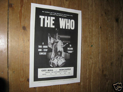 The Who Repro Tour POSTER Newcastle