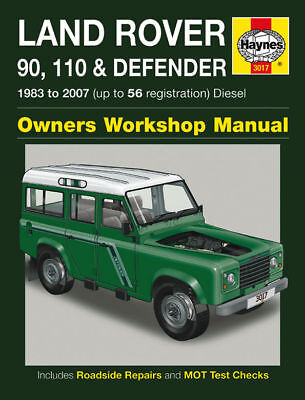 Haynes Manual 3017 Land Rover Defender 90 110 200TDi 300TDi 2.5 TD5 Diesel NEW
