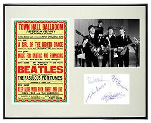 1963-Beatles-Memorabilia-Poster-Autographs