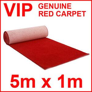 Red Carpet Runner VIP weddings 5m x 1m Party BBQ FUN Prom ...