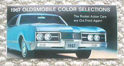 1967 Oldsmobile COLOR CHART w/ ?Factory Error? Brochure