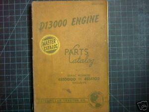 CAT-Caterpillar-D13000-Engine-Parts-Manual-Catalog-4S1