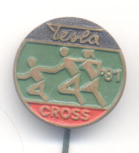 NIKOLA TESLA - TESLA CROSS 1981 , ZAGREB - lapel pin type 2