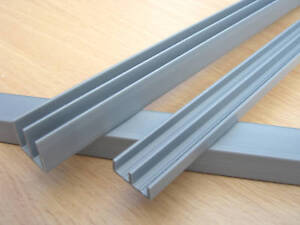 3ft Vivarium SILVER PVC 4mm GLASS RUNNERS Track 90cm Long Top Bottom