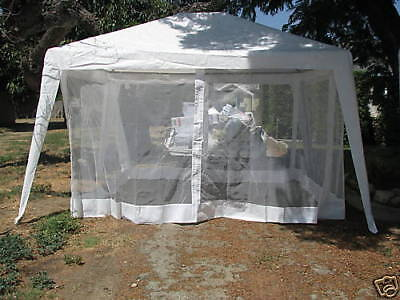 COOLAROO-OUTDOOR Mosquito Net/Screen Only FOR a 12'x10' Canopy Steel Frame NIB