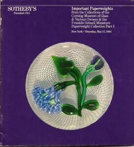 SOTHEBYS-Ysart-Clichu-Baccarat-Bacchus-Paperweights
