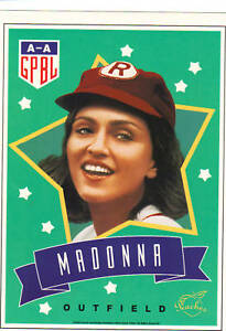 A League of Their Own - Promo 8x10 card MADONNA