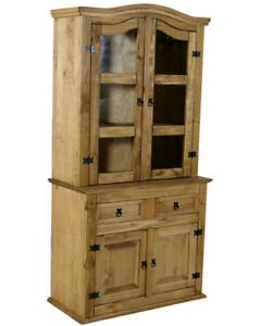 NEW-CORONA-MEXICAN-PINE-FURNITURE-WELSH-DRESSER-GLASS