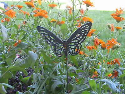 Butterfly Garden Yard Flower Bed Metal Art Steel