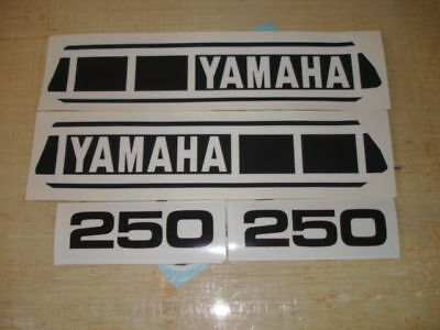 1977-1978 Yamaha Yz250 Gas Tank & Side Panel Decals