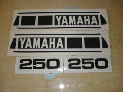 1977-1978 Yamaha Yz250 Gas Tank & Side Panel Decals