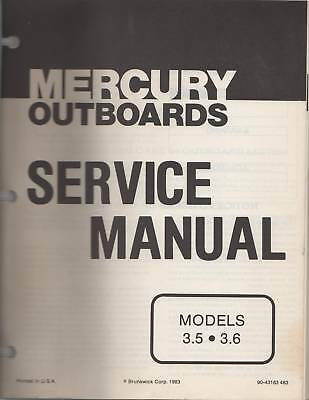 1974-85 Mercury Outboard 3.5 & 3.6 Models Manual