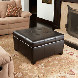 Tufted-Espresso-Brown-Leather-Storage-Ottoman-Coffee-Table