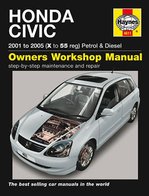 Haynes Manual 4611 Honda Civic 1.4i 1.4i-VTEC 1.6i LS  1.7i CTDi 2001-2005 NEW