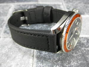 22mm-PVC-Composite-Rubber-Diver-Strap-Black-Watch-Band-fit-OMEGA-PO-Maratac-22
