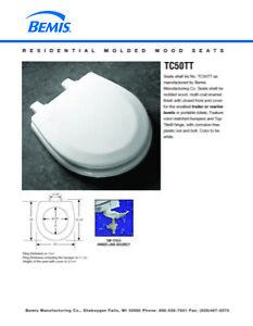Bemis Tc50tt Wood Marine Or Rv Toilet Seat White Ebay