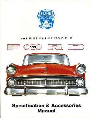 1955 Ford Fairlane/customline Facts & Feature Manual