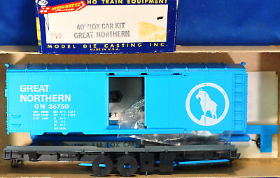 Lmh Mdc Roundhouse 1045 40' Sd Boxcar Kit Gn Great Northern Model Diecasting