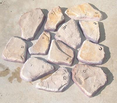 Concrete Flagstone/fieldstone Veneer Stone Molds 16pcs