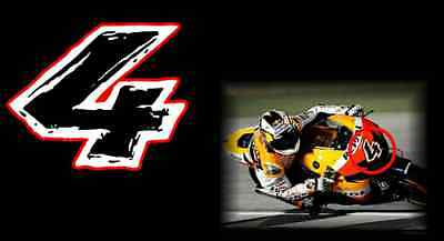 Andrea Dovizioso 4 Motogp Motorcycle Racing Decal Sticker Honda Repsol