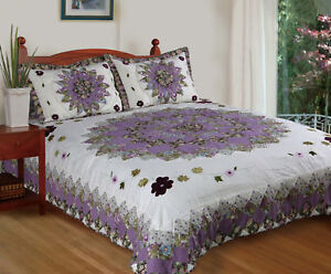 Pansy's Field 100% Cotton Quilt Set, Bedspread, Coverlet