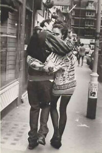 Love London Couple 1988 Photograph by Woman Artist  Pamela Hanson B&W Postcard