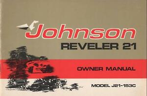 1973 JOHNSON REVELER 21 SNOWMOBILE OWNERS MANUAL