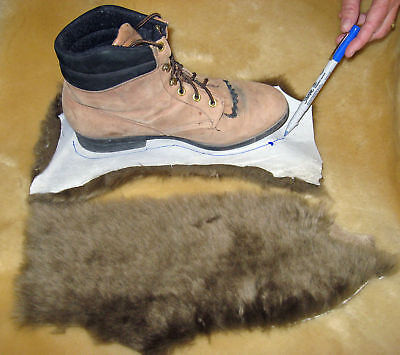 4 Brown Merino Sheepskin Pads Reline Uggs Insoles Shoe inserts Slippers Boots
