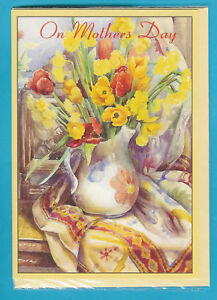 6-A5-SIZE-TOP-QUALITY-MOTHERS-DAY-CARDS-daffodil-design