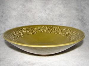 Vintage-Taylor-Smith-Green-Dogwood-Bowl-Vegetable-Bowl-Green-Bowl