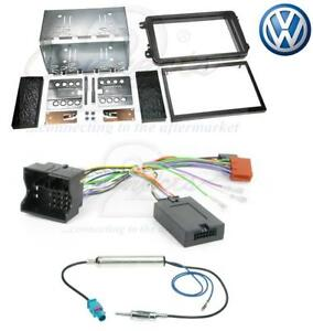 VW-Golf-Mk5-03-09-Complete-Double-Din-Car-Stereo-Fitting-Kit-in-Stalk-Adaptor