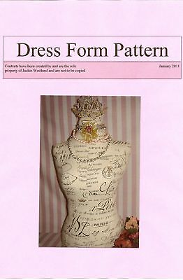 Vintage Style French Dress Form/Mannequin Pattern