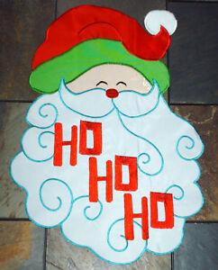 New-X-mas-garden-Flags-12-5-x-18-Santa-or-Gingerbread