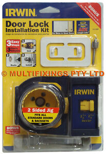 Irwin Door Lock Installation Kit Bonus Hinge Jig Ebay