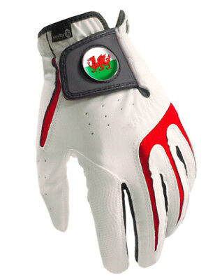 All Weather Mens Golf Glove - Wales Magnetic Ball Marker -