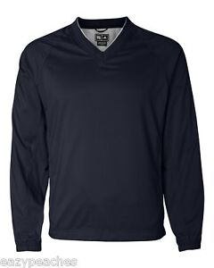ADIDAS GOLF Mens S-2XL 3XL CLIMAPROOF V-neck Windshirt Jacket BLACK GREEN NAVY