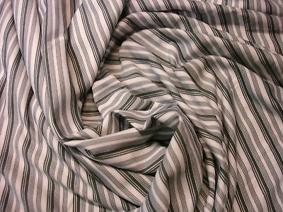 1 Laufmeter Jersey 2,41€/m² weiß/grau/schwarz gestreift A38
